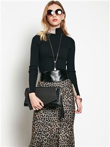 例格女装豹纹半裙