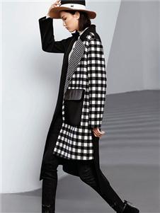 例格女装格子外套