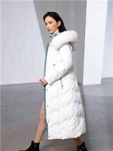 例格女装白色羽绒服