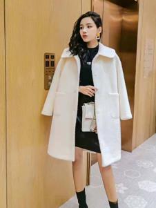 碧成萱2019冬季女装双面毛呢