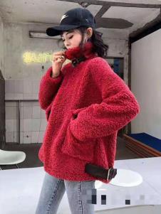 碧成萱女装冬新款兔绒外套
