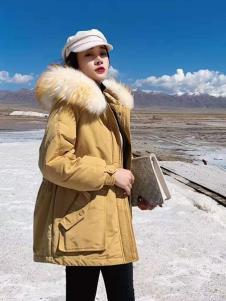 碧成萱2019冬季女装大毛领羽绒