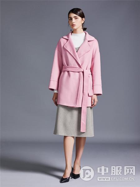 艾米女装粉色大衣