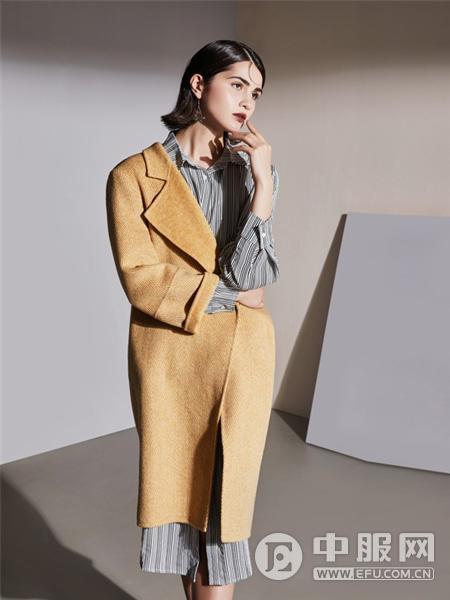 艾米女装骆色大衣