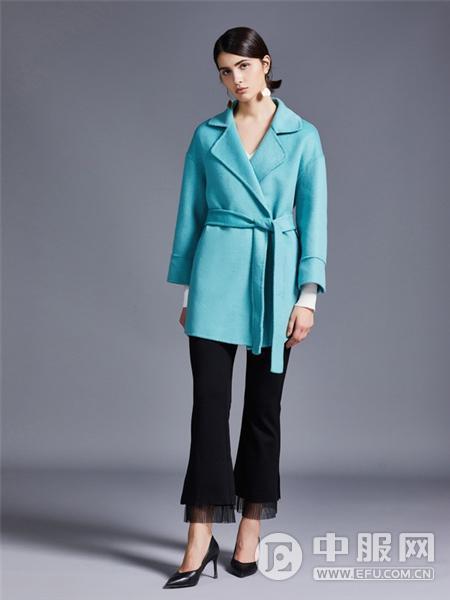 艾米女装蓝色大衣