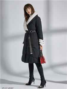 简约风情黑色长款外套