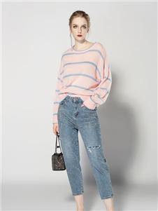 JA粉色毛衣