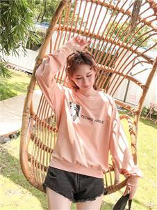 欧蕾芭粉色长袖