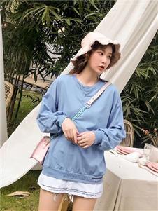欧蕾芭蓝色长袖