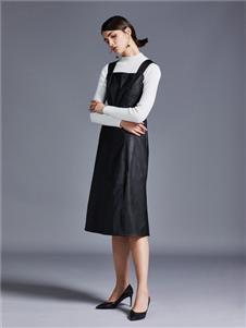 艾米女装黑色吊带连衣裙