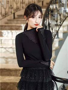 M+女装M+女装黑色打底衫