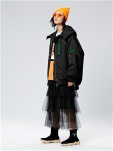 木果果木女装2019新款黑色蛋糕裙