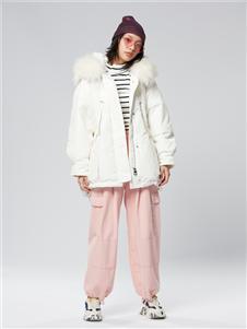 木果果木女装2019新款粉色长裤
