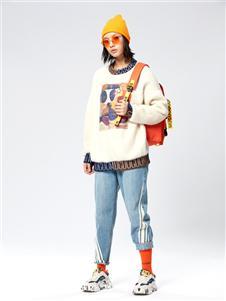 木果果木女装2019新款牛仔裤