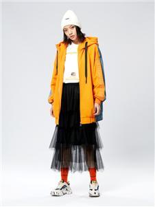 木果果木女装2019新款橙色外套