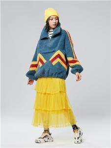 木果果木女装2019新款毛绒外套