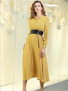 索诗妃儿女装索诗妃儿女装黄色连衣裙