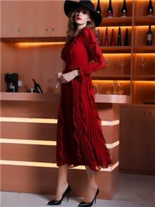 索诗妃儿女装索诗妃儿女装红色连衣裙