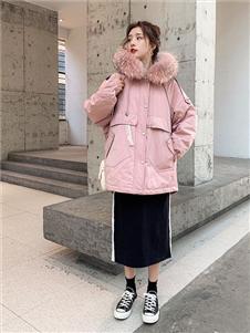 藏九女装粉色棉衣