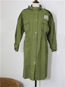 搜谷女装搜谷女装军绿色风衣