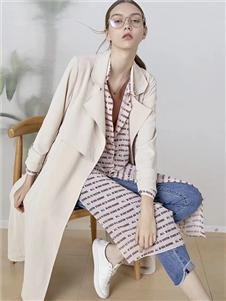 司合伊女装米色风衣