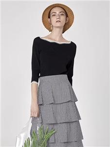 司合伊女装灰色半裙