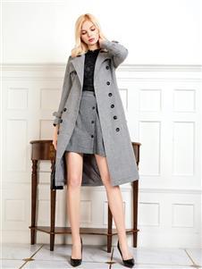 依歌灰色大衣