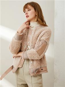 熙加女装熙加女装羊羔绒外套