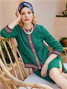 TITI女装绿色套裙