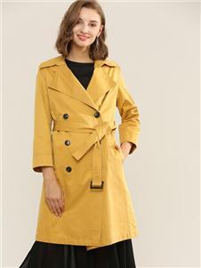 扣扣黄色风衣