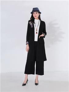 千唐绣女装千唐绣女装黑色外套