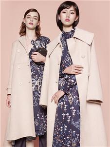 迪凱女裝米色大衣