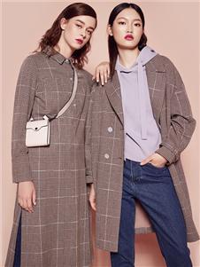 迪凱女裝格子外套