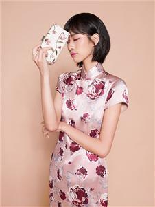 迪凱女裝粉色旗袍