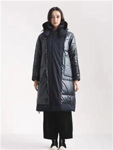 阿莱贝琳女装黑色羽绒衣 款号368151