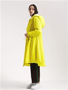 阿莱贝琳女装黄色风衣 款号368153