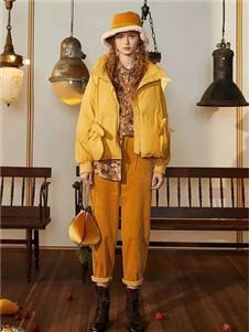 菀草壹黄色棉衣
