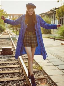 妍帛女装妍帛女装蓝色棉衣