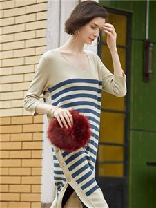 普普风女装针织连衣裙