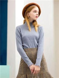 色彩一秀女裝藍色針織衫