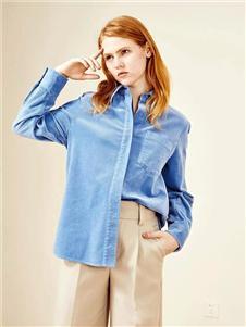IAM27蓝色衬衫