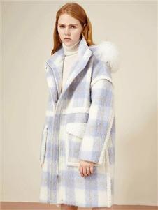 IAM27格子大衣