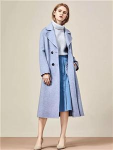 IAM27蓝色大衣