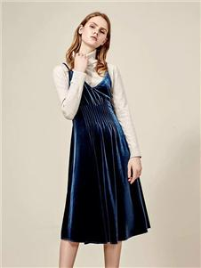 IAM27绒面连衣裙
