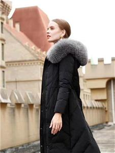 格悦秋冬新款黑色羽绒服