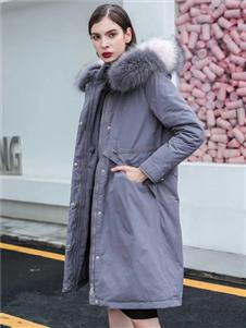 咔魅蘭新款時尚氣質收腰羽絨服