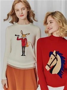 哥弟女装哥弟女装狐狸针织衫