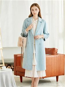 朵以女装朵以女装蓝色大衣