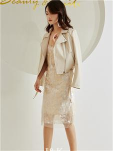 爱客女装白色短款外套 款号369235