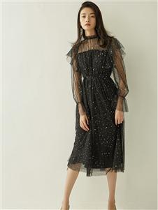 爱客女装满天星连衣裙 款号369239